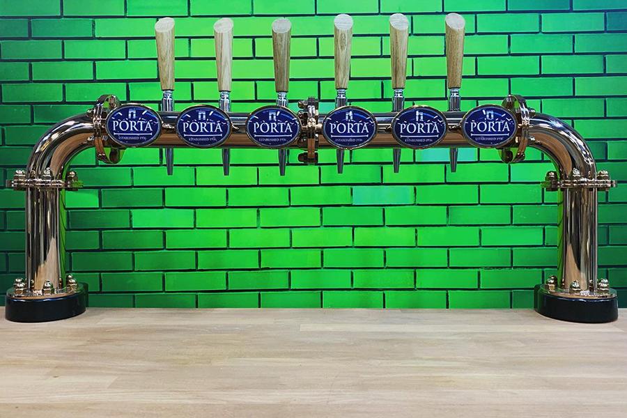 Multi beer dispense, Beer font, Drink dispense, Copper font